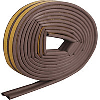 Diall EPDM Rubber Self adhesive Draught seal, (L)6000mm