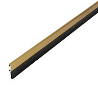 Diall Aluminium & brush Self adhesive Draught excluder, (L)1000mm