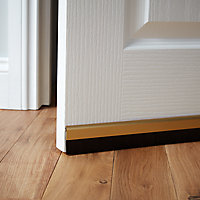 Diall Gold effect Self-adhesive Draught excluder (L)1000mm