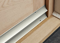 Diall Silver effect PVC Threshold & rain deflector, (L)0.91m