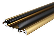 Diall Gold effect PVC Threshold door seal, (L)0.91m