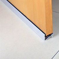 Diall Silver effect PVC Two part threshold door seal, (L)0.91m