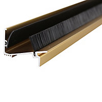 Diall Gold effect PVC Two part threshold door seal, (L)0.91m