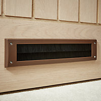 Diall Brown Letterbox draught excluder, (H)80mm (W)342mm