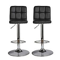 B&Q Lagan Black Bar stool, Pack of 2