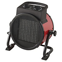 2500W Red Freestanding Fan heater