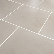 Konkrete Ivory Matt Concrete effect Porcelain Floor tile, (L)426mm (W)426mm, Sample