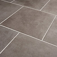 Konkrete Grey Matt Modern Concrete effect Porcelain Floor tile, (L)426mm (W)426mm, Sample