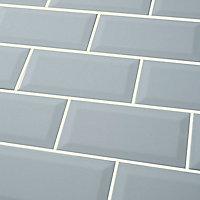 Trentie Blue Gloss Ceramic Wall tile, (L)200mm (W)100mm, Sample