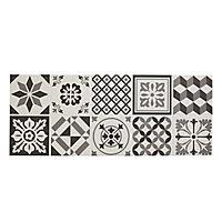 Konkrete Grey Matt Pattern Ceramic Wall tile, (L)500mm (W)200mm, Sample