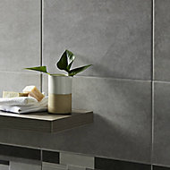 Cimenti Grey Matt Ceramic Wall tile, (L)400mm (W)250mm, Sample