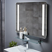 Cooke & Lewis Berrow Rectangular Illuminated Frameless Bathroom mirror (H)600mm (W)800mm