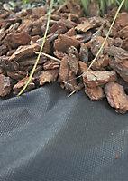 Verve Black Polypropylene Weed control fabric, (L)50m (W)2m