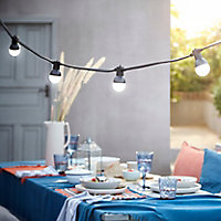 Blooma Barnaby Mains-powered Warm white 10 LED External String lights