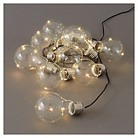Blooma Fernie Battery-powered Warm white 10 LED External String lights