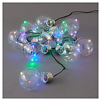 Blooma Fernie Battery-powered Multicolour 10 LED External String lights