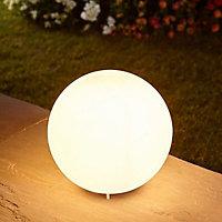 Blooma Vancouver Non-adjustable Matt White Mains-powered Halogen Outdoor Ball Lantern (Dia)25cm