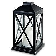 Black Battery-powered Warm white LED External Lantern
