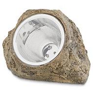 Brushed Grey Rock Solar-powered LED Decorative light