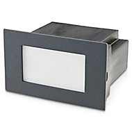 Blooma Neihart Brushed Charcoal grey Mains-powered LED Outdoor Brick Wall light 100lm