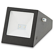 Blooma Plevna Black Solar-powered LED Brick Wall light