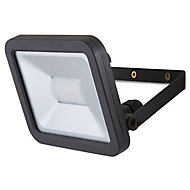 Blooma Weyburn Gloss Black Mains-powered LED Outdoor Flood light 1600lm