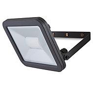 Blooma Weyburn Gloss Black Mains-powered LED Flood light 2400lm