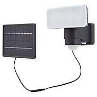 Blooma Kenora Matt Charcoal Solar-powered LED PIR External Flood light