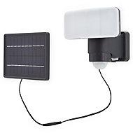Blooma Kenora Matt Charcoal Solar-powered LED PIR Flood light