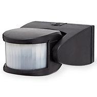 Blooma Brant Black Mains-powered Wall lighting PIR Motion sensor