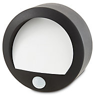 Blooma Melville Powder-coated Black Battery-powered LED Bulkhead Wall light