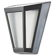 Solar Matt Black Solar-powered LED Lantern Wall light