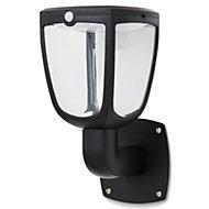 Blooma Seldovia Matt Black Solar-powered LED Lantern Wall light