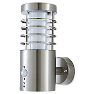 Blooma Hampstead Adjustable Brushed Silver effect Mains-powered LED Outdoor Wall light 260lm
