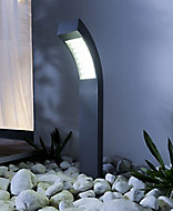 Blooma Gambell Matt Charcoal grey Mains-powered LED Post light