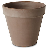 Laleh Brown Terracotta Plant pot (Dia)23cm