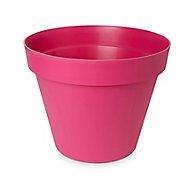 Nurgul Pink Plastic Plant pot (Dia)58cm