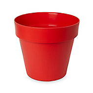 Nurgul Glazed Red Plastic Plant pot (Dia)40cm