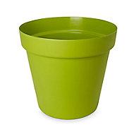 Nurgul Glazed Green Plastic Plant pot (Dia)30cm