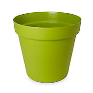 Nurgul Green Plastic Plant pot (Dia)20cm