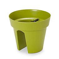 Nurgul Green Plastic Railing Plant pot (Dia)28cm