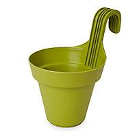 Nurgul Green Plastic Hanging pot (Dia)20cm