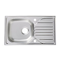 Turing Polished Inox Stainless steel 1 Bowl Sink & drainer