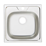 Gamow Metallic Inox Stainless steel 1 Bowl Sink
