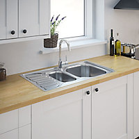Turing Stainless steel 1.5 Bowl Sink & drainer