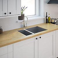 Cooke & Lewis Cajal Stainless steel 1.5 Bowl Sink