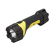 Diall Black & yellow Plastic 50lm LED Torch
