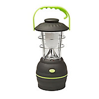 Diall ABS Black & green Battery-powered LED Lantern
