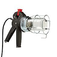 Diall Black & red Inspection light 60W 220 - 240V