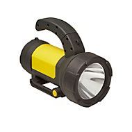 Diall 190lm Plastic LED Black & yellow Rechargeable spotlight